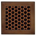 HEXAGON2 BLACK MARBLE & RUSTED METAL (R) Framed Tiles Front