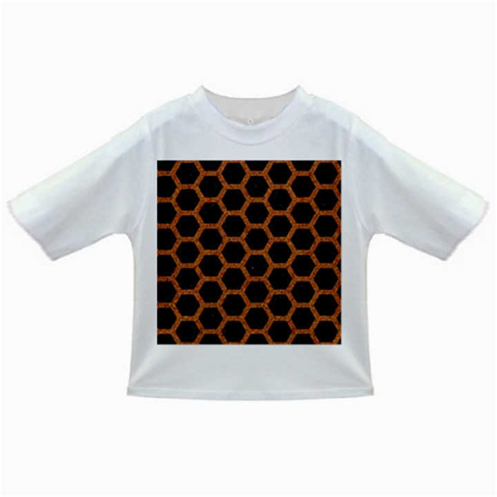 HEXAGON2 BLACK MARBLE & RUSTED METAL (R) Infant/Toddler T-Shirts