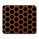 HEXAGON2 BLACK MARBLE & RUSTED METAL (R) Large Mousepads Front
