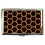 HEXAGON2 BLACK MARBLE & RUSTED METAL (R) Cigarette Money Cases Front
