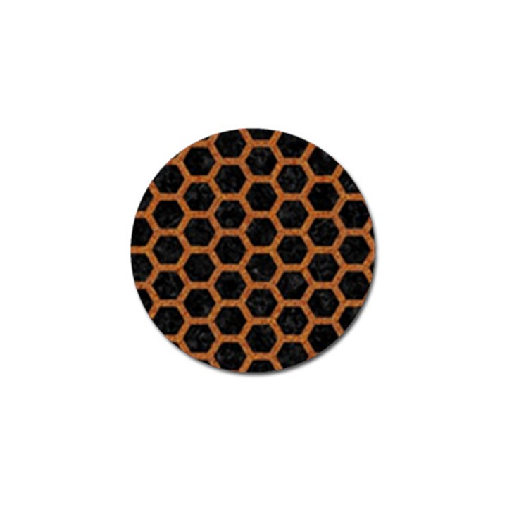 HEXAGON2 BLACK MARBLE & RUSTED METAL (R) Golf Ball Marker (4 pack)