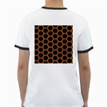 HEXAGON2 BLACK MARBLE & RUSTED METAL (R) Ringer T-Shirts Back