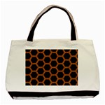 HEXAGON2 BLACK MARBLE & RUSTED METAL (R) Basic Tote Bag Front