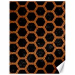 HEXAGON2 BLACK MARBLE & RUSTED METAL (R) Canvas 18  x 24   24 x18 Canvas - 1