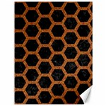 HEXAGON2 BLACK MARBLE & RUSTED METAL (R) Canvas 36  x 48   48 x36 Canvas - 1