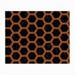 HEXAGON2 BLACK MARBLE & RUSTED METAL (R) Small Glasses Cloth (2-Side) Front
