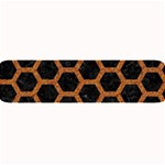 HEXAGON2 BLACK MARBLE & RUSTED METAL (R) Large Bar Mats 34 x9.03 Bar Mat - 1