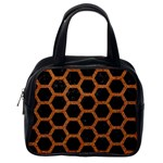 HEXAGON2 BLACK MARBLE & RUSTED METAL (R) Classic Handbags (One Side) Front
