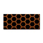 HEXAGON2 BLACK MARBLE & RUSTED METAL (R) Cosmetic Storage Cases Front