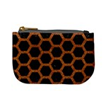 HEXAGON2 BLACK MARBLE & RUSTED METAL (R) Mini Coin Purses Front