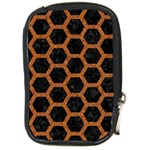 HEXAGON2 BLACK MARBLE & RUSTED METAL (R) Compact Camera Cases Front