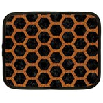 HEXAGON2 BLACK MARBLE & RUSTED METAL (R) Netbook Case (XXL)  Front