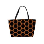 HEXAGON2 BLACK MARBLE & RUSTED METAL (R) Shoulder Handbags Back