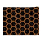 HEXAGON2 BLACK MARBLE & RUSTED METAL (R) Cosmetic Bag (XL) Back