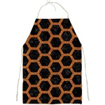 HEXAGON2 BLACK MARBLE & RUSTED METAL (R) Full Print Aprons Front