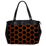 HEXAGON2 BLACK MARBLE & RUSTED METAL (R) Office Handbags Front