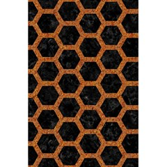 Hexagon2 Black Marble & Rusted Metal (r) 5 5  X 8 5  Notebooks