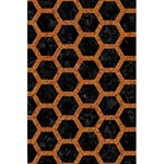 HEXAGON2 BLACK MARBLE & RUSTED METAL (R) 5.5  x 8.5  Notebooks Front Cover