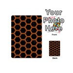 HEXAGON2 BLACK MARBLE & RUSTED METAL (R) Playing Cards 54 (Mini)  Back