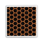 HEXAGON2 BLACK MARBLE & RUSTED METAL (R) Memory Card Reader (Square)  Front