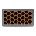 HEXAGON2 BLACK MARBLE & RUSTED METAL (R) Memory Card Reader (Mini) Front