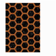 Hexagon2 Black Marble & Rusted Metal (r) Large Garden Flag (two Sides)
