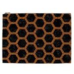 HEXAGON2 BLACK MARBLE & RUSTED METAL (R) Cosmetic Bag (XXL)  Front