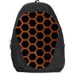 HEXAGON2 BLACK MARBLE & RUSTED METAL (R) Backpack Bag Front