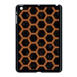 HEXAGON2 BLACK MARBLE & RUSTED METAL (R) Apple iPad Mini Case (Black) Front