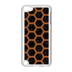 Hexagon2 Black Marble & Rusted Metal (r) Apple Ipod Touch 5 Case (white)
