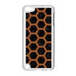 HEXAGON2 BLACK MARBLE & RUSTED METAL (R) Apple iPod Touch 5 Case (White) Front