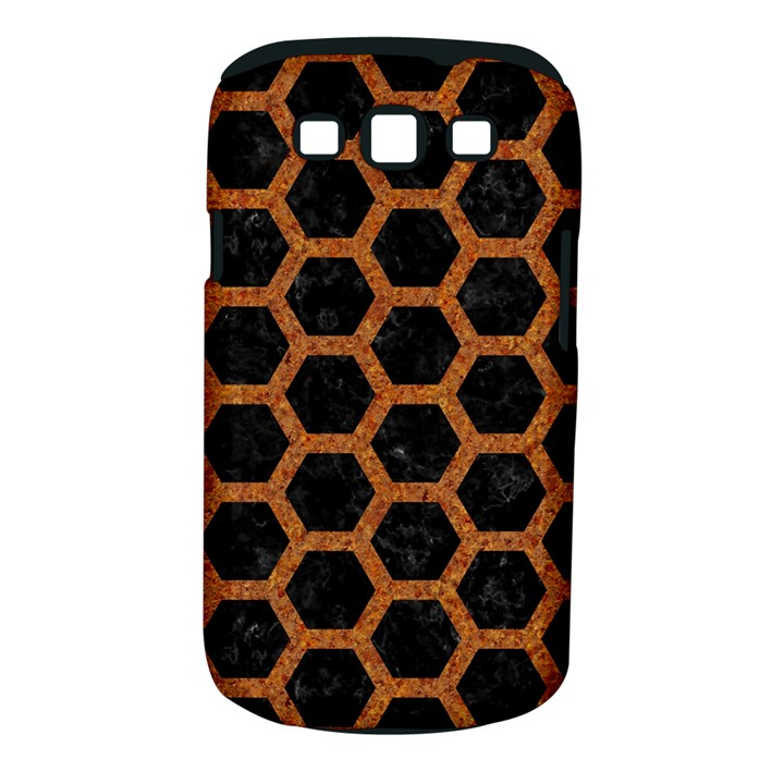 HEXAGON2 BLACK MARBLE & RUSTED METAL (R) Samsung Galaxy S III Classic Hardshell Case (PC+Silicone)