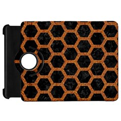 Hexagon2 Black Marble & Rusted Metal (r) Kindle Fire Hd 7