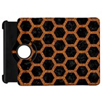 HEXAGON2 BLACK MARBLE & RUSTED METAL (R) Kindle Fire HD 7  Front