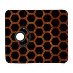 HEXAGON2 BLACK MARBLE & RUSTED METAL (R) Galaxy S3 (Flip/Folio) Front