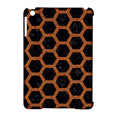 Hexagon2 Black Marble & Rusted Metal (r) Apple Ipad Mini Hardshell Case (compatible With Smart Cover)