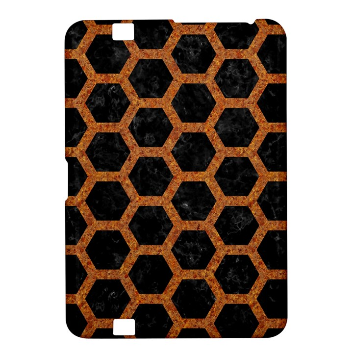 HEXAGON2 BLACK MARBLE & RUSTED METAL (R) Kindle Fire HD 8.9