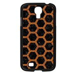 HEXAGON2 BLACK MARBLE & RUSTED METAL (R) Samsung Galaxy S4 I9500/ I9505 Case (Black) Front