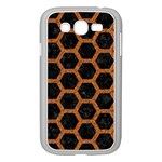 HEXAGON2 BLACK MARBLE & RUSTED METAL (R) Samsung Galaxy Grand DUOS I9082 Case (White) Front
