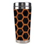HEXAGON2 BLACK MARBLE & RUSTED METAL (R) Stainless Steel Travel Tumblers Right