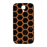 HEXAGON2 BLACK MARBLE & RUSTED METAL (R) Samsung Galaxy S4 I9500/I9505  Hardshell Back Case Front