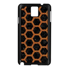 Hexagon2 Black Marble & Rusted Metal (r) Samsung Galaxy Note 3 N9005 Case (black)
