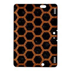 Hexagon2 Black Marble & Rusted Metal (r) Kindle Fire Hdx 8 9  Hardshell Case