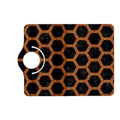 Hexagon2 Black Marble & Rusted Metal (r) Kindle Fire Hd (2013) Flip 360 Case