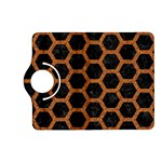 HEXAGON2 BLACK MARBLE & RUSTED METAL (R) Kindle Fire HD (2013) Flip 360 Case Front