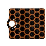 HEXAGON2 BLACK MARBLE & RUSTED METAL (R) Kindle Fire HDX 8.9  Flip 360 Case Front