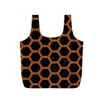 HEXAGON2 BLACK MARBLE & RUSTED METAL (R) Full Print Recycle Bags (S)  Back