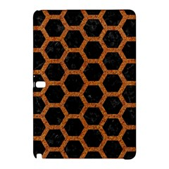 Hexagon2 Black Marble & Rusted Metal (r) Samsung Galaxy Tab Pro 12 2 Hardshell Case