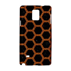 Hexagon2 Black Marble & Rusted Metal (r) Samsung Galaxy Note 4 Hardshell Case