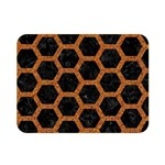 HEXAGON2 BLACK MARBLE & RUSTED METAL (R) Double Sided Flano Blanket (Mini)  35 x27 Blanket Front